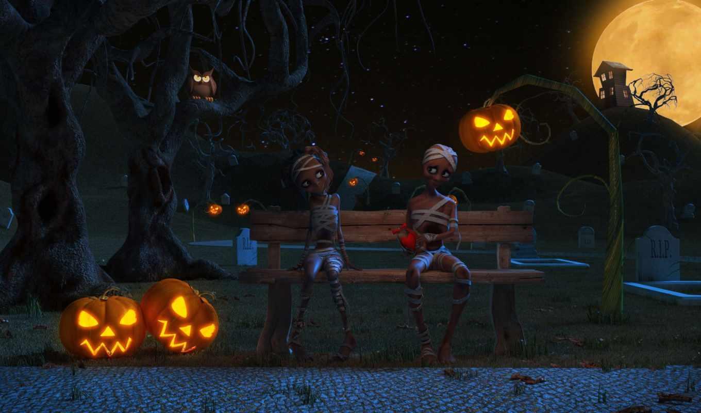 halloween, helloween, boy, house, красивые, широкоформатные, art, девушка,