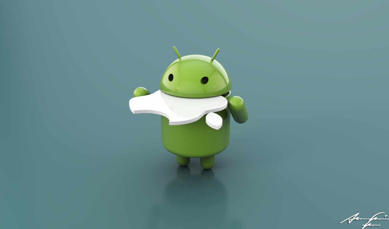 android, apple, eating, apples,