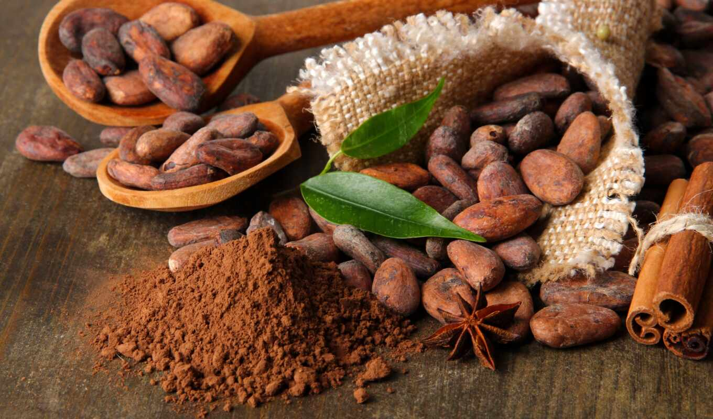 какао, chocolate, бобы, cinnamon,