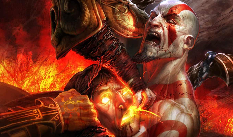 игры, war, god, game, греция, ярость, blood, red, видео, demon, компьютерные, games, картинка, kratos,