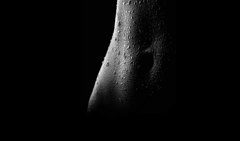 эротика, живот, капли, мокрый, пупок