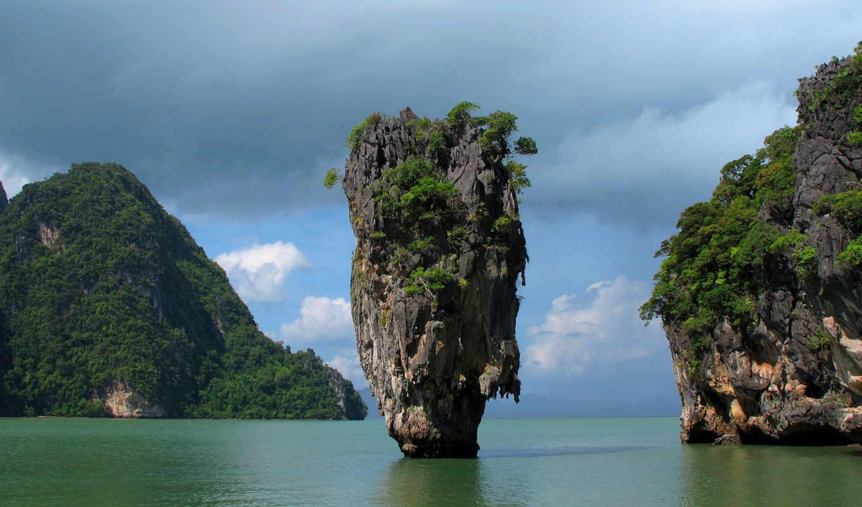 остров, джеймса, бонда, таиланд, пханг, nga, пхангнга, bay, пхукет, залив,