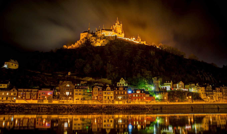 германии, замки, самым, castle, июня, германия, реки, долина, moselle, считается, красивым,