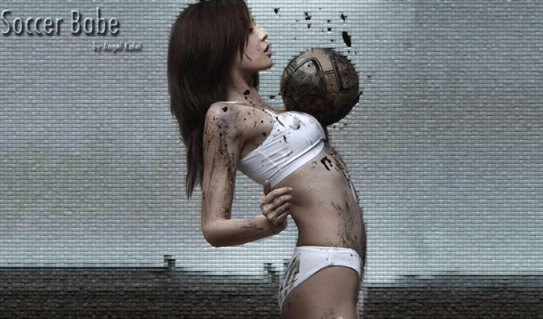 футбол, play, девушка, играет, dirty, если, girls,