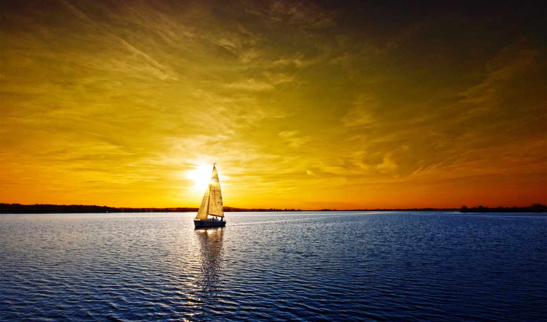 природы, красавица, stars, золотого, ray, солнца,