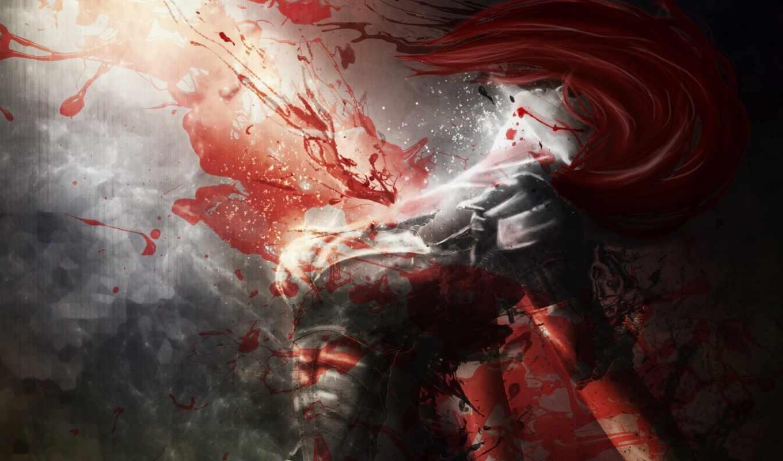 девушка, кровь, art, крови, devushki, фантастика,
