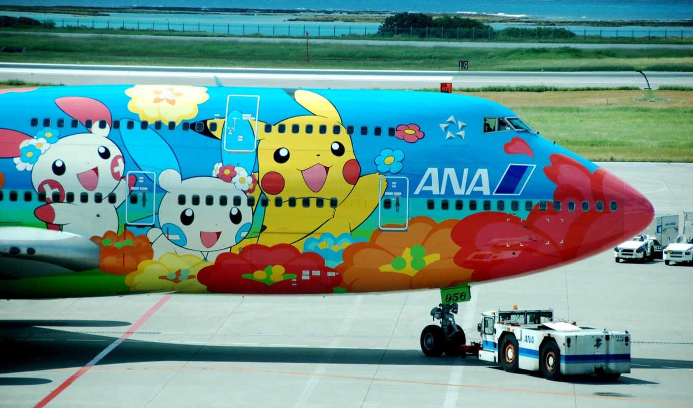аэропорт, боинг, рисунок, картинка, самолёт,