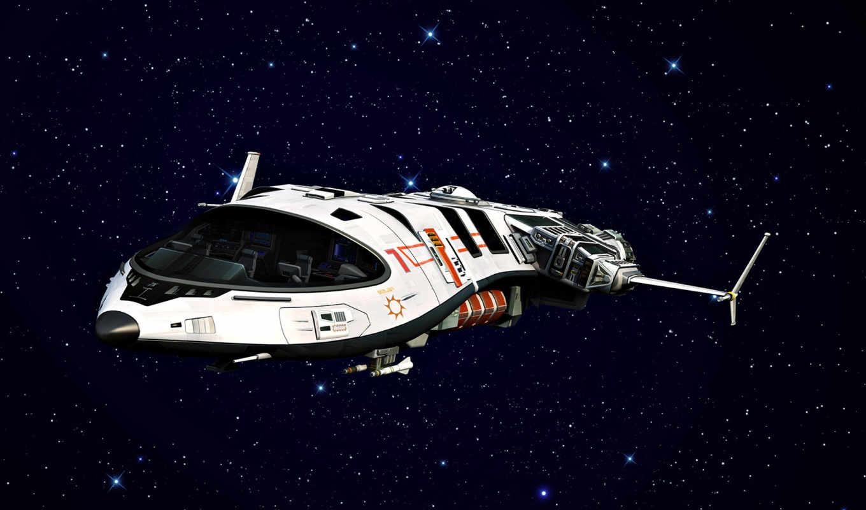 корабль, космический, звезды,