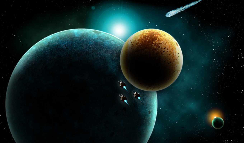 космос, планеты, регистрации, без,