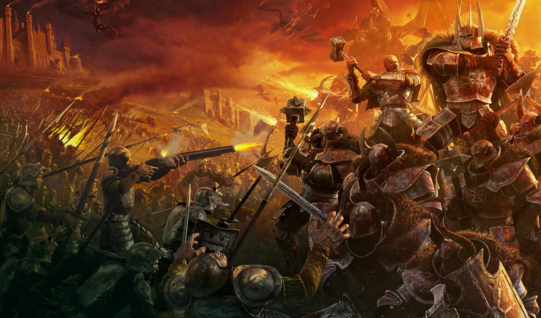 warhammer, chaos, марк, битва, драконы, characters,