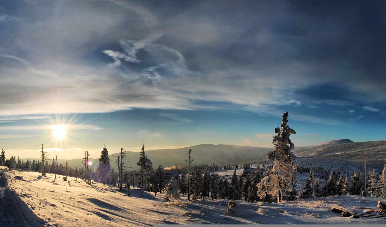 winter, снег, afternoon, вечер, закат, зимняя, дек, сказ,