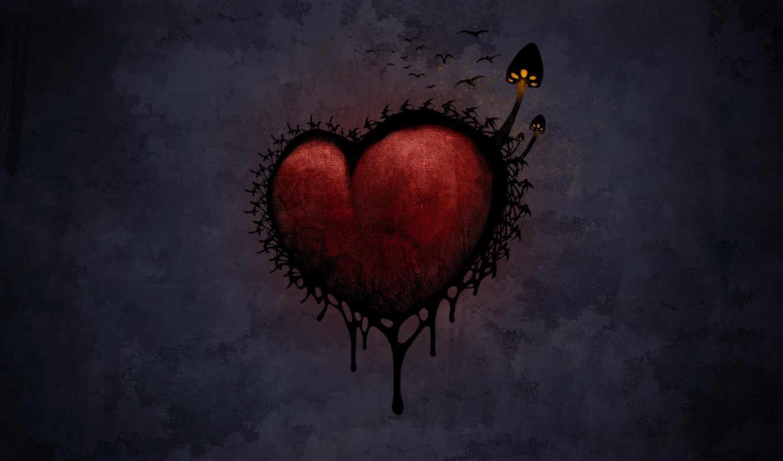 love, сердце, мрак, грибы, images, hurts, готичные, pictures, desktop,