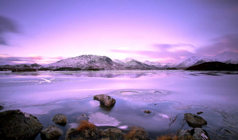 пейзаж, озеро, горы,