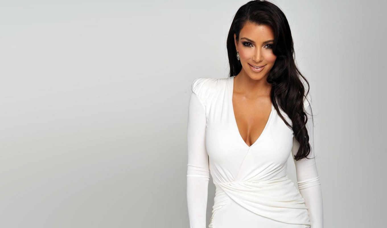 kim, kardashian, кардашян, white, desktop, dress, заставки,