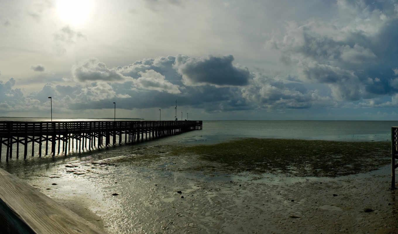 широкоформатные, море, пейзажи -, water, берег, ocean, пирсы, широкоэкранные, мосты, причалы,