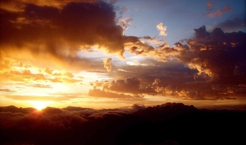 oblaka, full, небо, desktop, космос,
