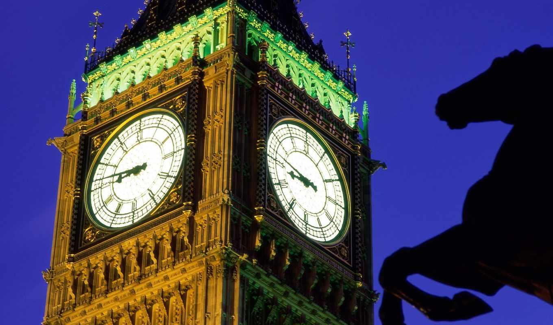 биг, бен, часы, дворца, июнь, вестминстерског, стефана, знаменитые,