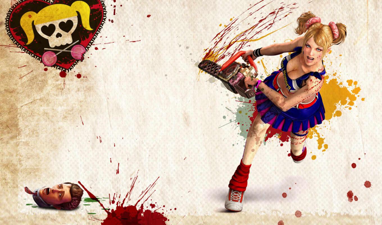 chainsaw, lollipop, девушка, игры, зомби, iphone, кровь, бензопилой, электропила,