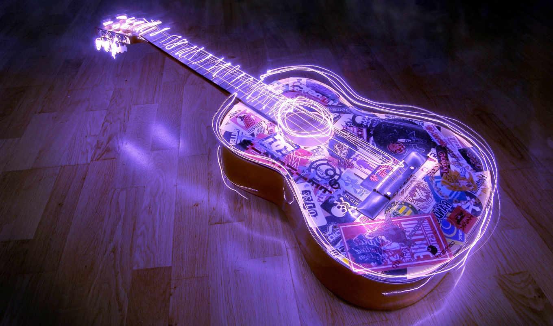 музыка, высоком, музыкальные, разное, инструменты,