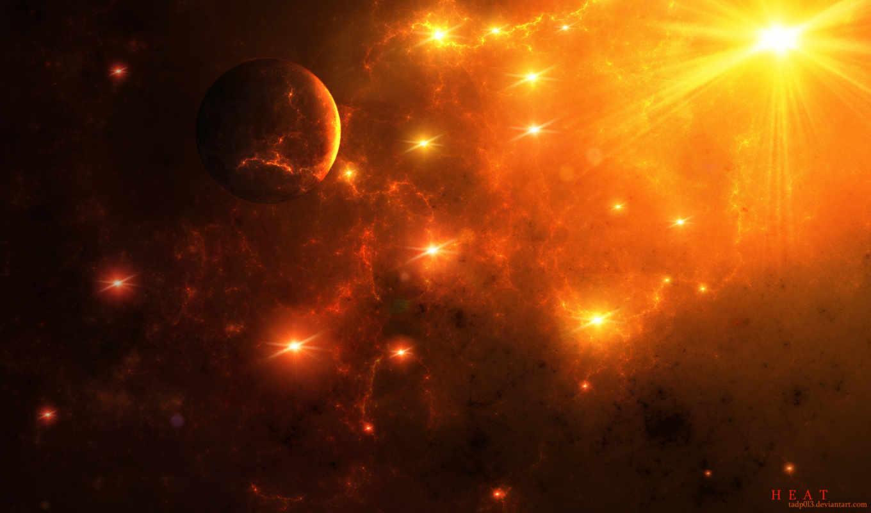 космос, art, звезды, heat, stars, широкоформатные,