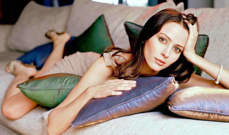 acker, amy, подушки, диван, couch, волосы, девушка, глаза, women,