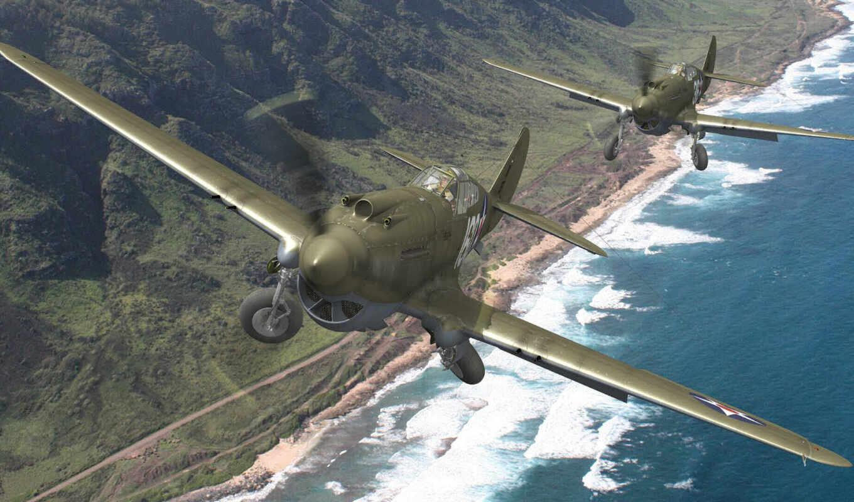 warhawk, curtiss, tomahawk, самолёт, art, kittyhawk,