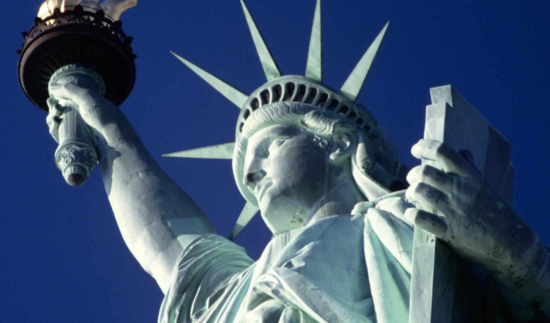 liberty, статуя, свободы, usa, символ, world, york, new, июнь,