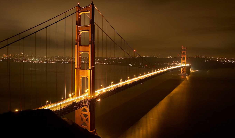 мост, золотистый, gate, золотые,