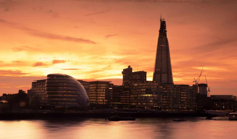лондон, англия, темза, река, здания, закат, вечер, города, photos, temza,