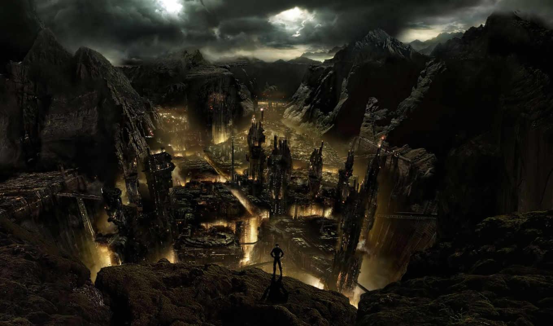 город, dark, medieval, fantasy,