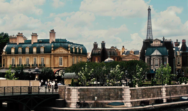 город, города, дома, париж, франция,