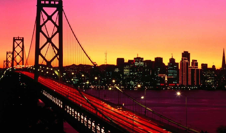 мост, bay, francisco, san, treasure, california, взгляд,