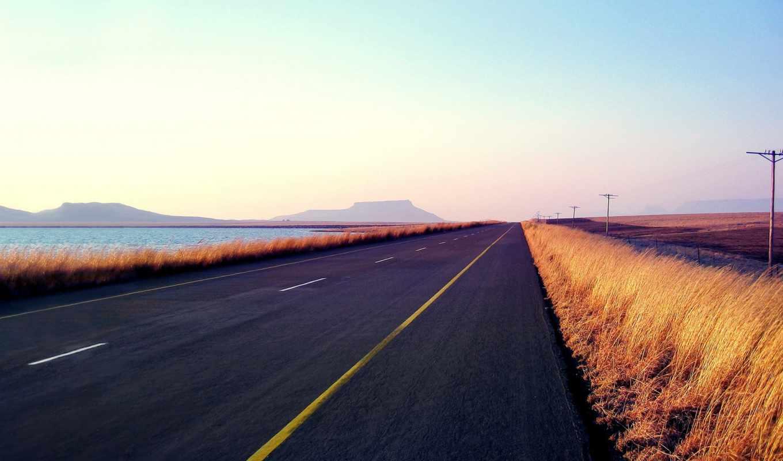 озеро, numix, дорога, горы, gtk, качественные, горизонт, небо, трава, поле,