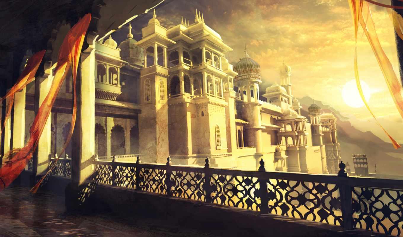 prince, persia, sands, forgotten, игры, дворец, game, окна, забытые, пески, лампа, башни, рисунки, видео, games,