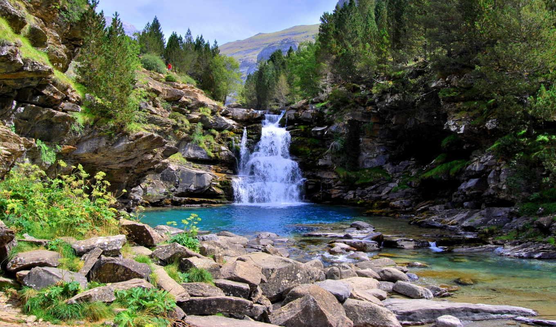 водопады, природа, испания, aragon, торла, парки,