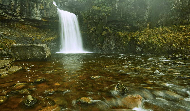 водопад, поток, количество, базе, качестве, река, скалы,