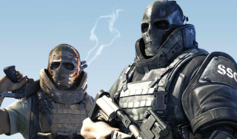 army, two, солдаты, маски, games, оружие, you, играл, кто, игры, игре,