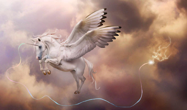 фэнтези, fantasy, art, nika, картинка, пегас, рог, крылья, единорог, единороги,