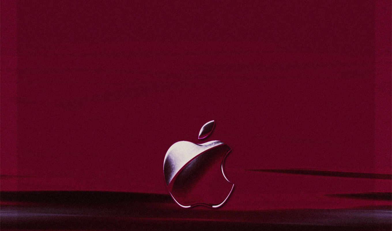 apple, лого, пурпурный, фон