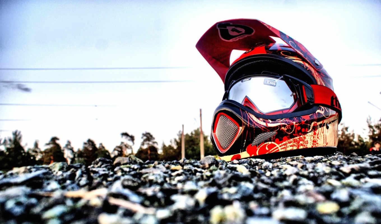 мотокросс, спорт, шлем,, песок