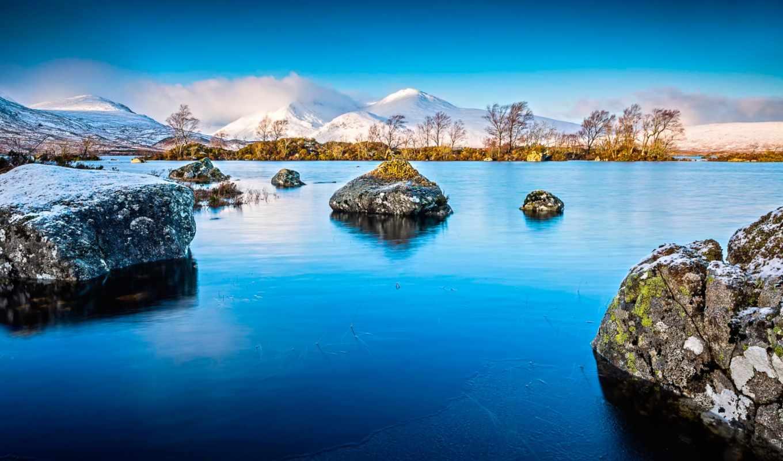 природа, озеро, камни, scotia, landscape, горы, картинка,