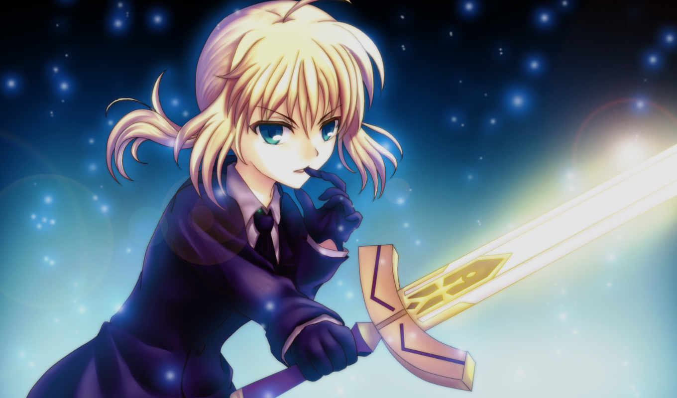 fate, night, stay, saber, zero, аниме, calendar, march, with, download,