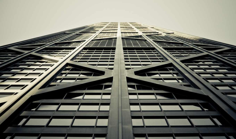 стекла, здание, шпалери,, горизонтали, имеет, абстракции, темы, вертикали,