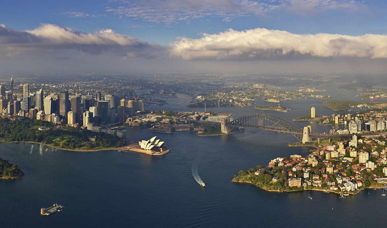 сидней, австралия, город,