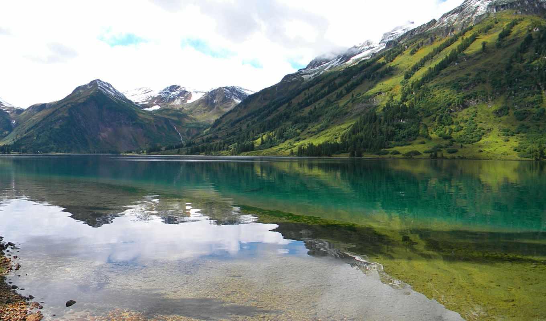 саяны, горы, хачу, озеро,