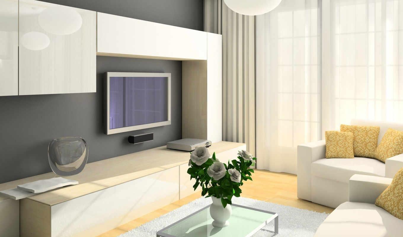 гостиной, dizain, комнаты, дизайна, гостиная, комнате, интерьера,