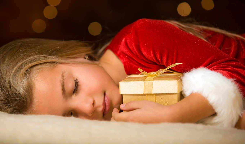 сон, подарок, девочка, christmas, праздник, children, новогодние, baby, подарки, desktop, download, картинку, картинка, правой, кнопкой, фотографию,