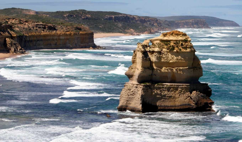 big, rock, природа, pic, побережье,