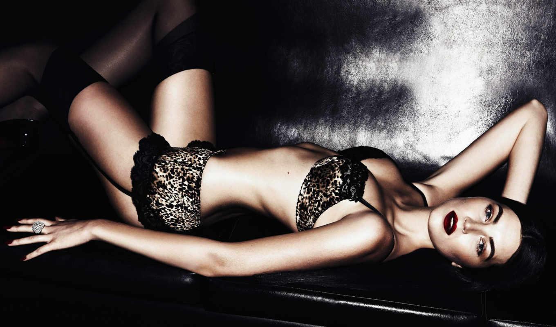 lingerie, румянец, белья, brunette, stockings,