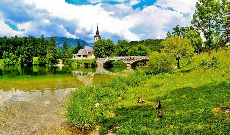 slovenia, bohinj, природа, река, landscape,